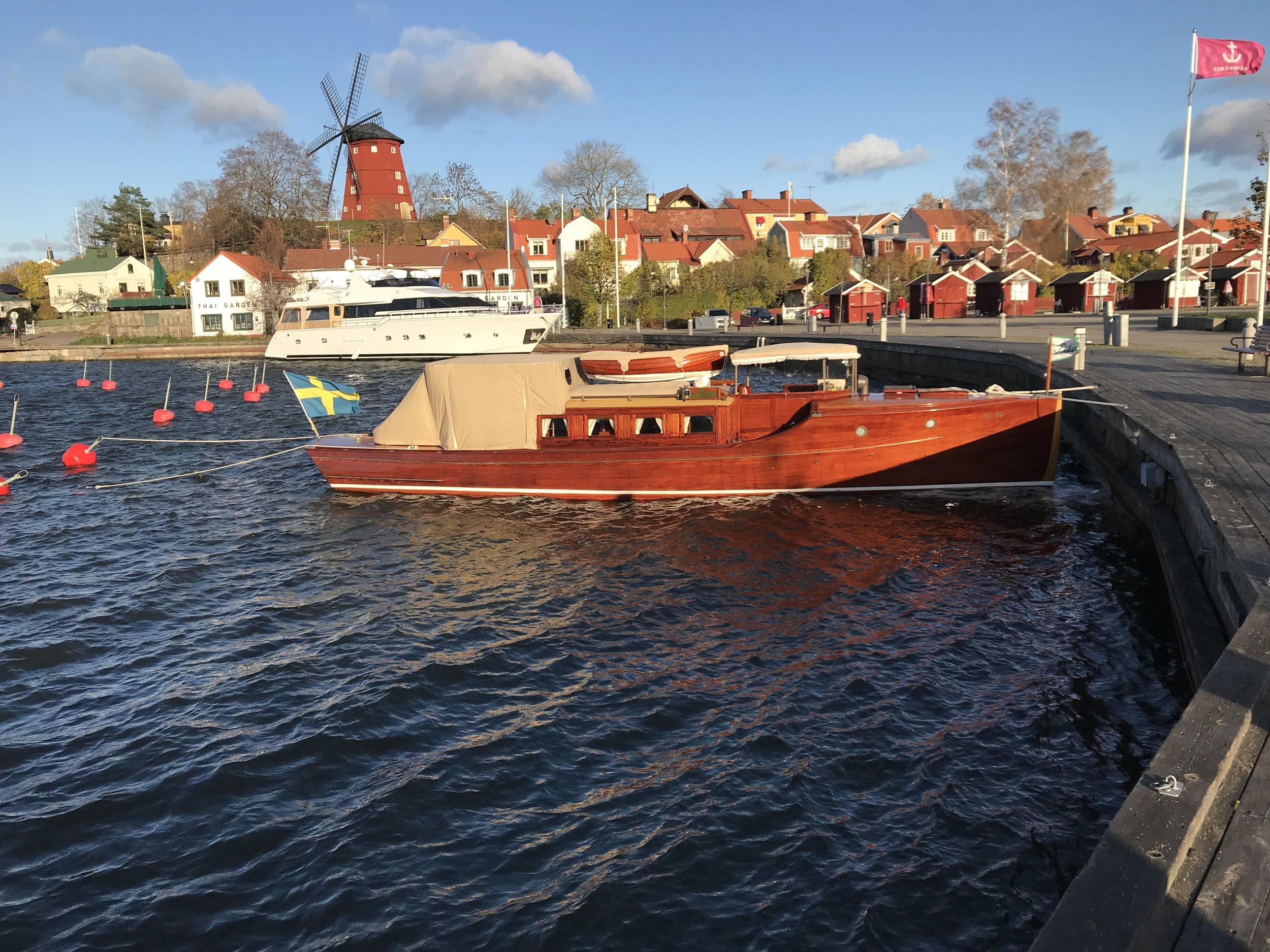 Vi låg i Strängnäs på denna veckotur, Per o Karin var med ombord i 4 dagar.