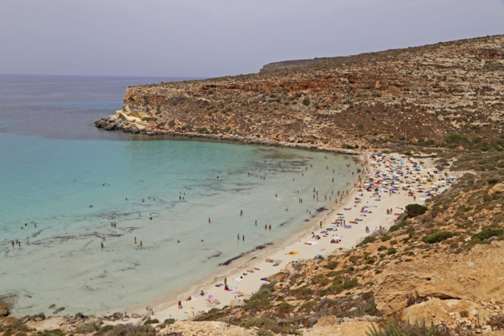 Rabbit Beach Lampedusalla KUVA: Päivi Laajalahti