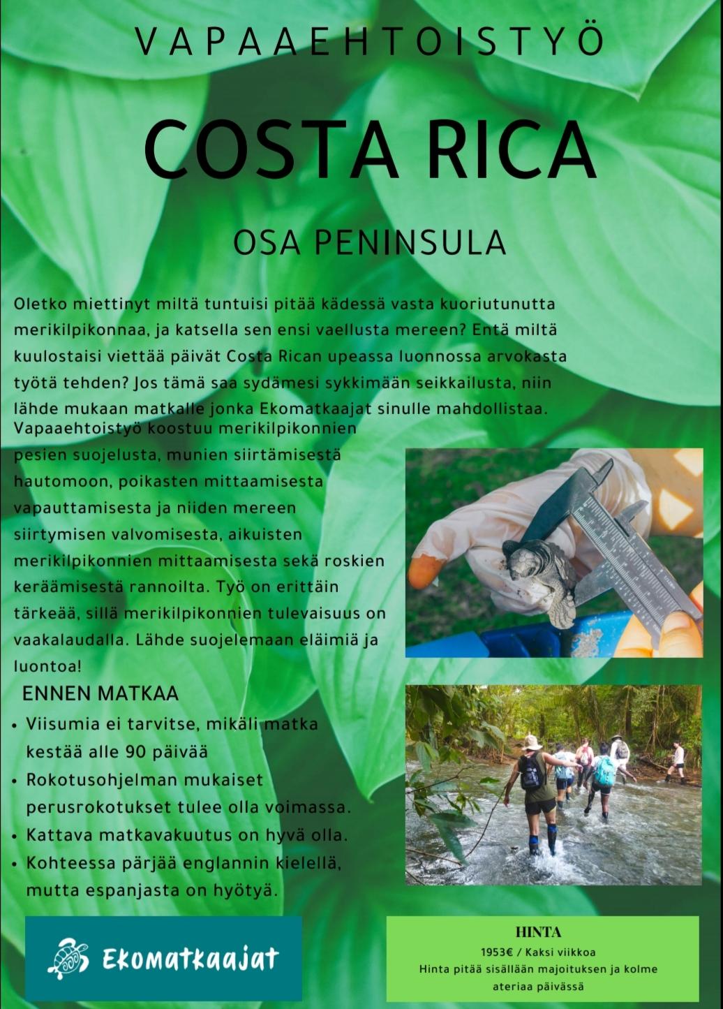 Tässä tekemäni mainos Costa Rican yhdestä kohteestamme.