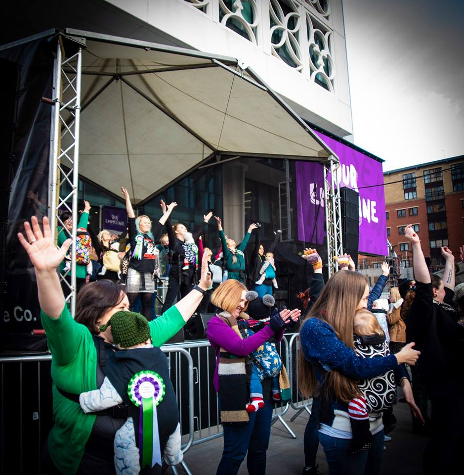 """Performing """"This is Me"""" at the unveiling of the Emmeline Pankhurst Statue Dec 2018"""