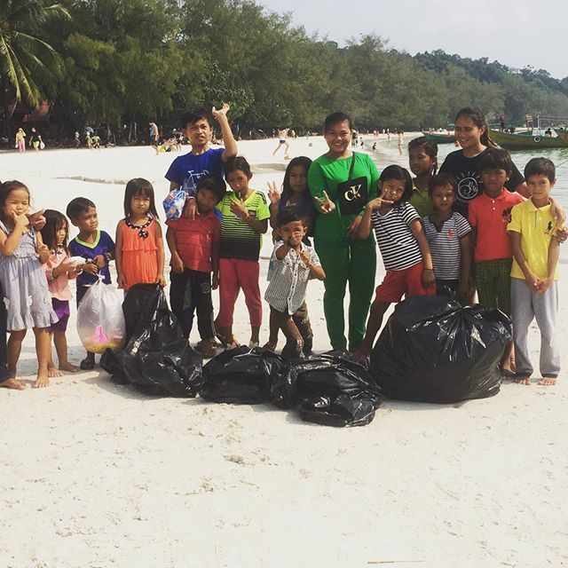 Five years of Saturday Beach cleans! From all of us on Koh Rong: Happy Earth Day 🌍#bethechange #earthday #kohrong #cambodia #empowertheyouth #khmer #educateanisland