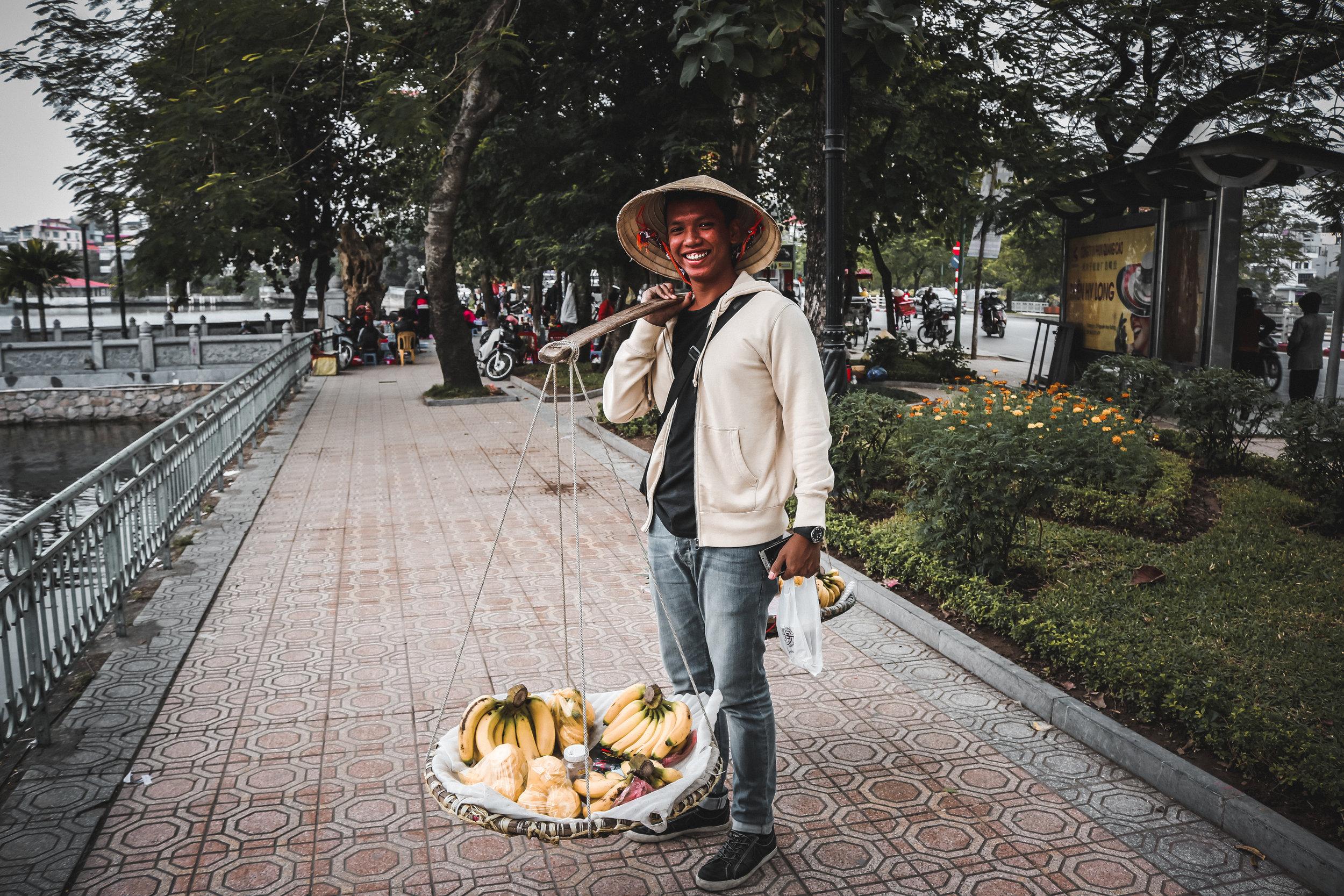 Exploring Hanoi - Fahmi the Banana Seller