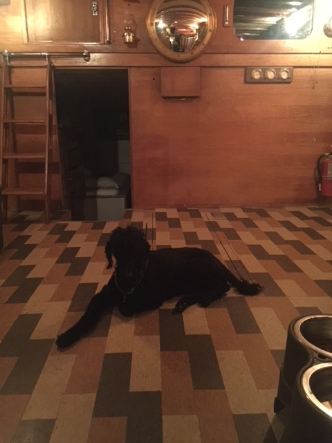 Kohl on new deckhouse floor.