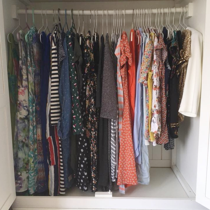 Clothes swoop up to the right using The KonMari Method™