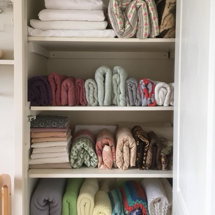 Client J ~ Organised linen and bedding