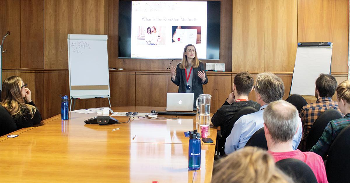 Katrina presenting at Canada Life