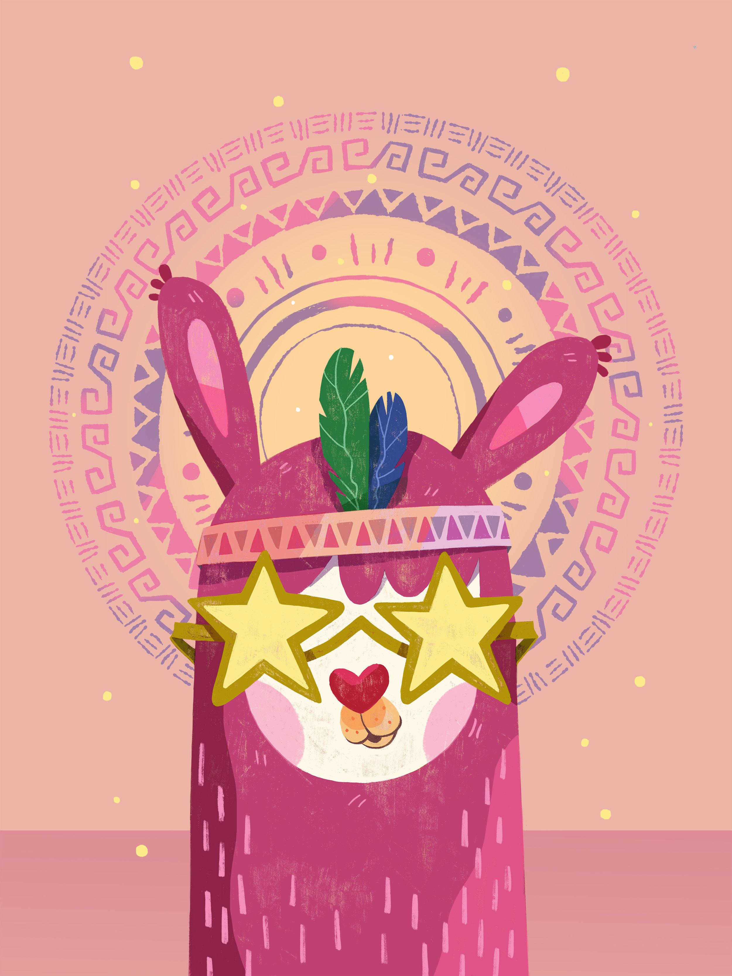 Llama hippie by Èlia Meraki