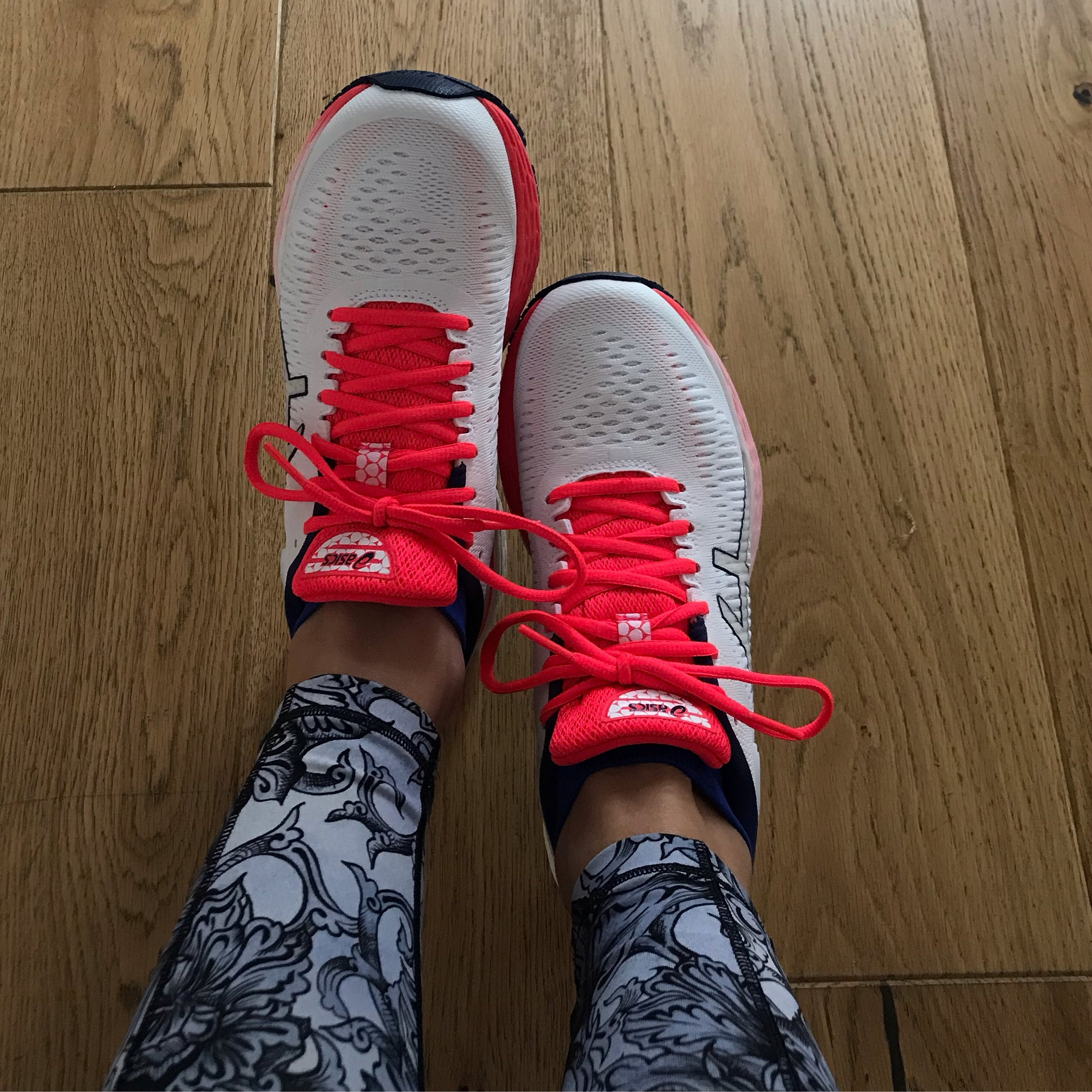New trainers helped with the motivation too… but now they're not so pretty and white!