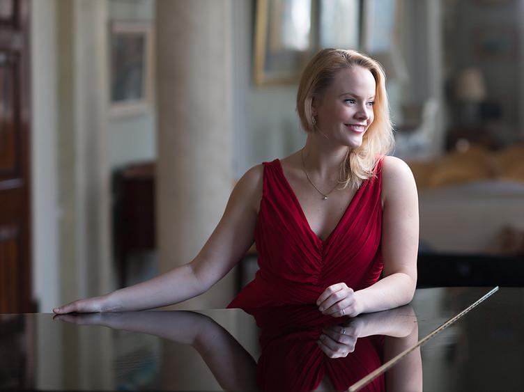 Lizzie Holmes, Debut (red dress).jpg