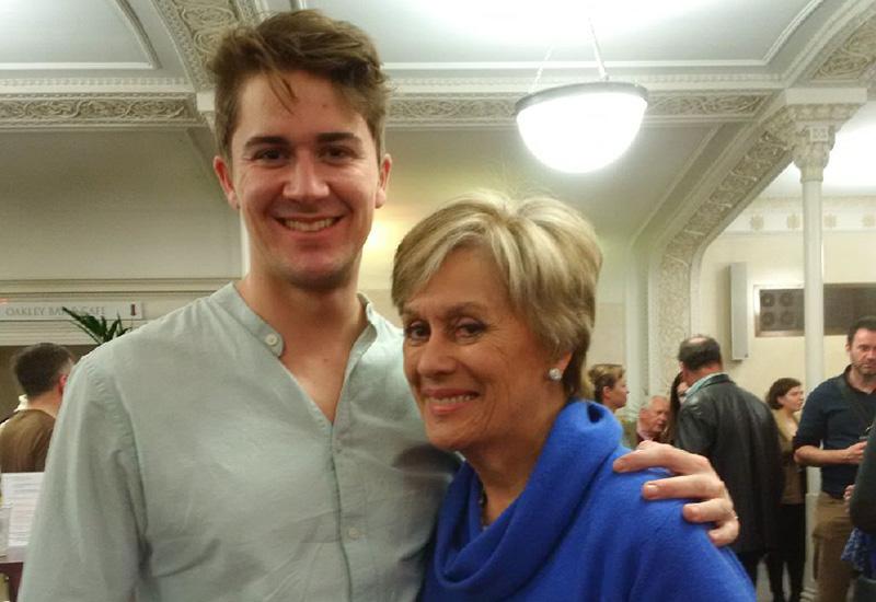 Joel pictured with Dame Kiri Te Kanawa