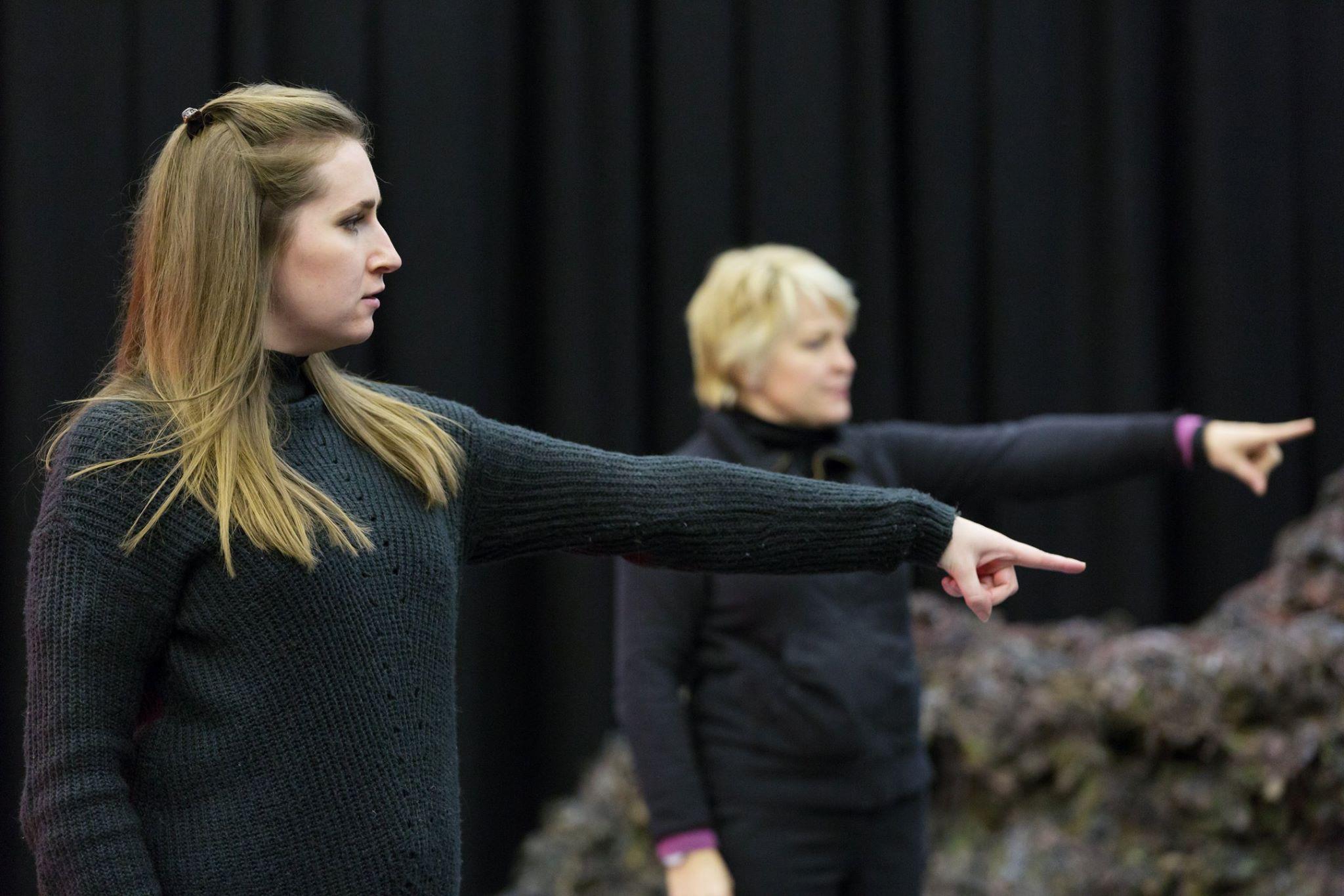 The Monstrous Child - Elizabeth Karani rehearsing at the Royal Opera House