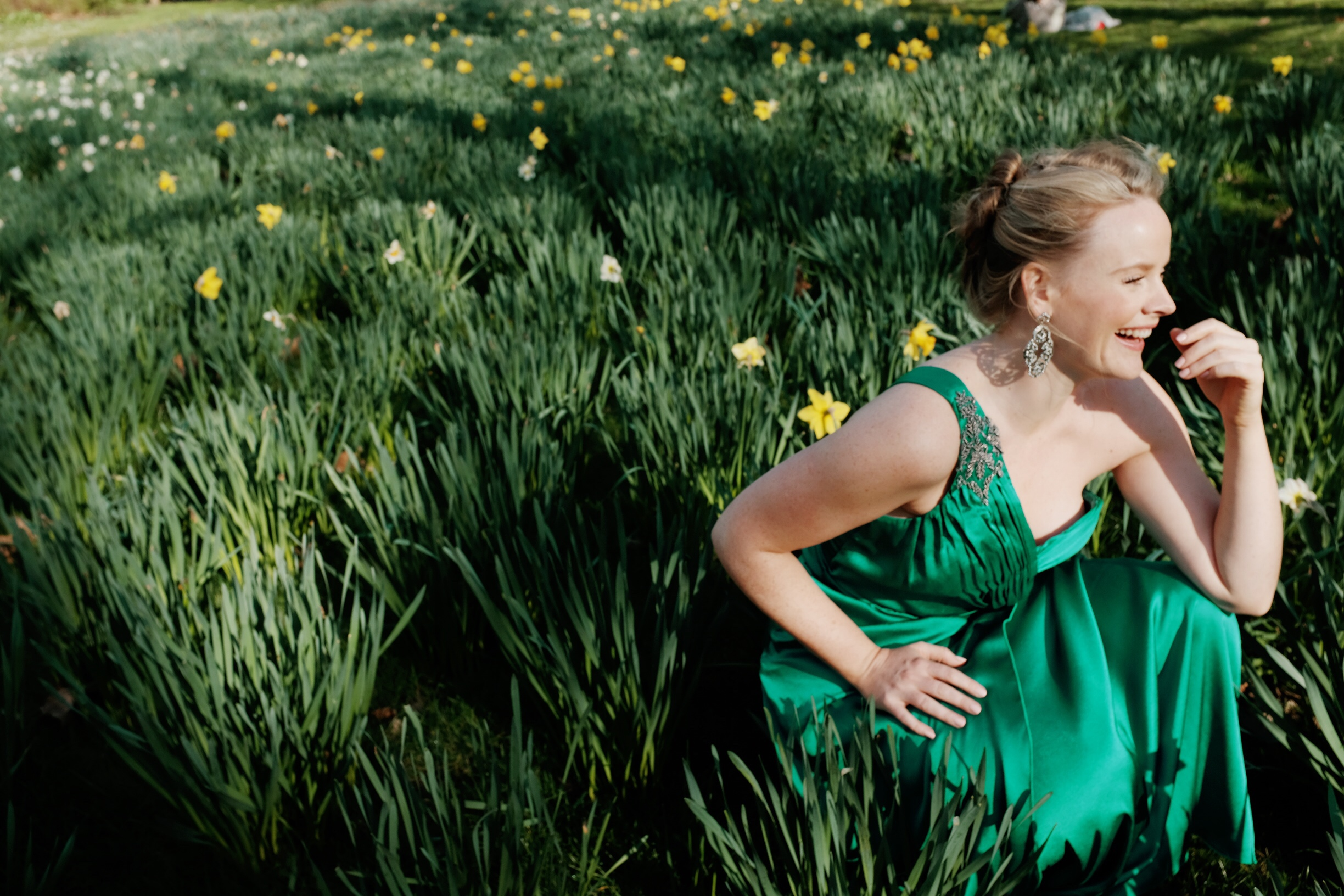 Lizzie Holmes, green dress smile.JPG