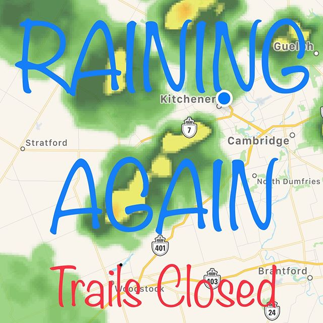 With rain in the forecast and 33mm of rain over night the trails will be water logged. Please stay off the trails until they dry up.