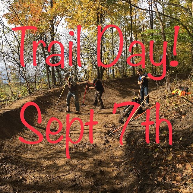 A friendly reminder that tomorrow is our first of two fall trail days. Starting at 8am with coffee and treats courtesy of @ziggyscyclekw in the Snyder's parking lot. Building/trail work starts at 8:30am and will wrap up around noon when @kingstreetcycles will fire up Andy's BBQ to serve up some 🍔. Please bring shovels, rakes and wheelbarrows as we are pushing in some new trail. Dress for the weather conditions and let's hope the mosquitoes are mostly gone! #trailday #newtrail
