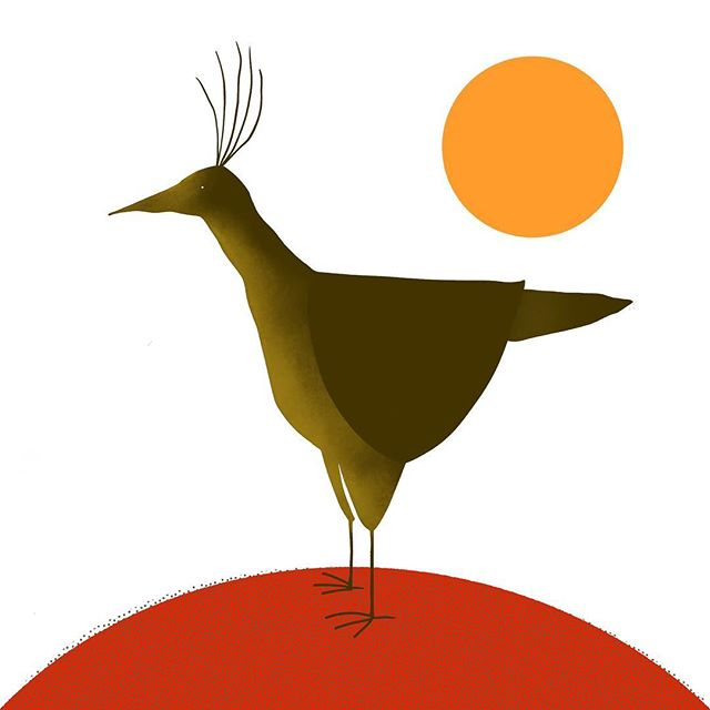 An homage to a member of the household . . . #illustration #graphicdesign #illustrator #bird