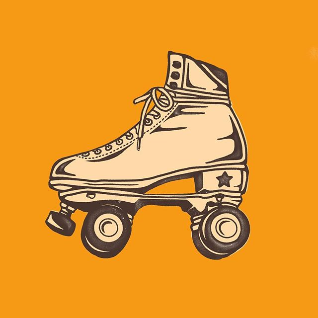 I just wanna Rolly Rolly Rolly . . . #illustration #illustrator #graphicdesign #procreate #rollerskating #rollerskates #rolex #rollerderby #kickass
