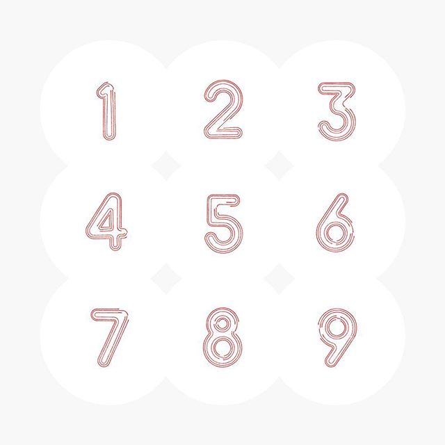 """I do the numbers"" -Kevin Malone . . . . #typography #typographydesign #typedesign #typeface #typefacedesign #numerical #numbers #graphicdesign #graphicdesigninspiration #experimentaltype"