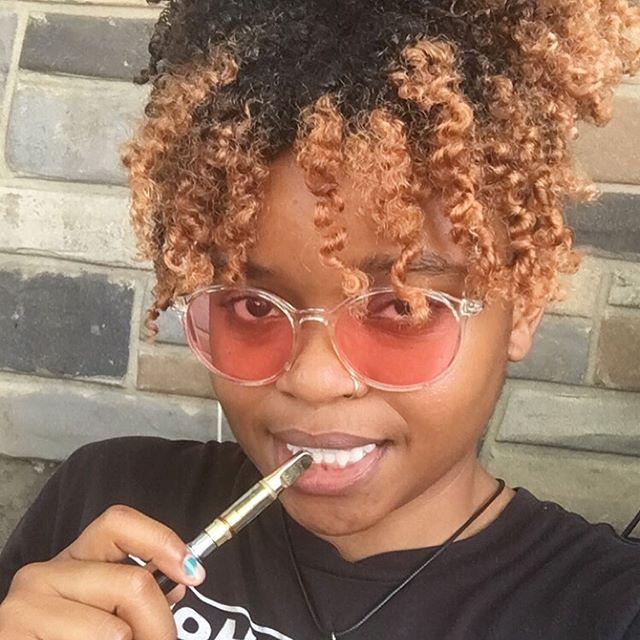 I'm here with LaTasha (my pen) at @chacc_dc celebrating @deedwyerjonts photo exhibit Last Bit of Chocolate City? We here #fortheculture✊🏾 . . . . . #dcartist #blackartist #polymerclayart #acreativedc #bythings #menstrualjewelry #202creates #periodpositive #periodpositivity #blackpainter #endthestigma #justsayperiod #blackgirlmagic #periodstigma #bydc #pride2019 #pridedc #gay #sexpositive #sexpositiveart #worshipthatpussy #fortheculture