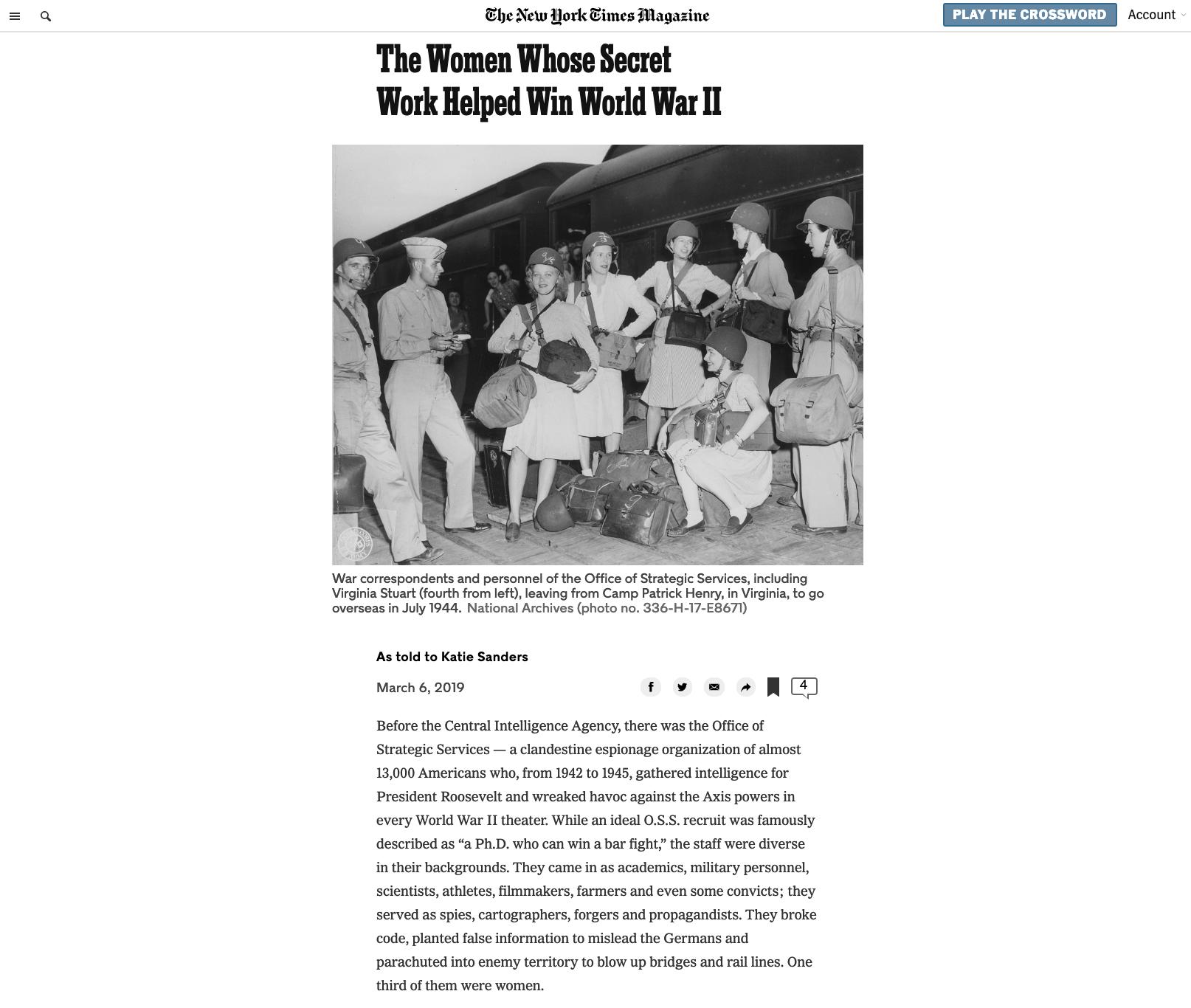 The Women Whose Secret Work Helped Win World War II    NYTimes.com