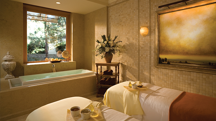 The Spa at Pelican Hill   If you think The Resort at Pelican Hill is transporting, wait until you get to The Spa at Pelican Hill. Prior to your treatments, spend time in the Aqua Colonnade, a Tuscan-inspired relaxation area with an herbal steam room and sauna.