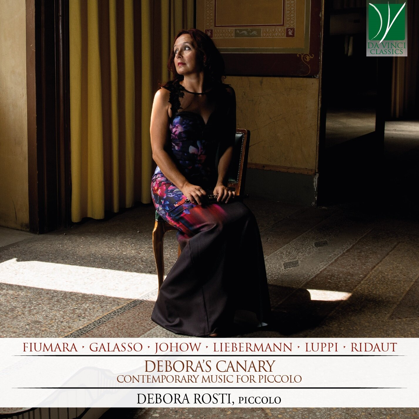 New Recording on Da Vinci Classics - (Oct. 6, 2019) Deborah Rosti's recording of Liebermann's Eight Pieces for Piccolo Op.59 has been released on the Da Vinci Classics label on an album of 20th century works for solo piccolo entitled Debora's Canary. The album also contains works by Fiumara, Galasso, Johow, Luppi and Ridalt. You can order the cd from the Da Vinci Classics website here.