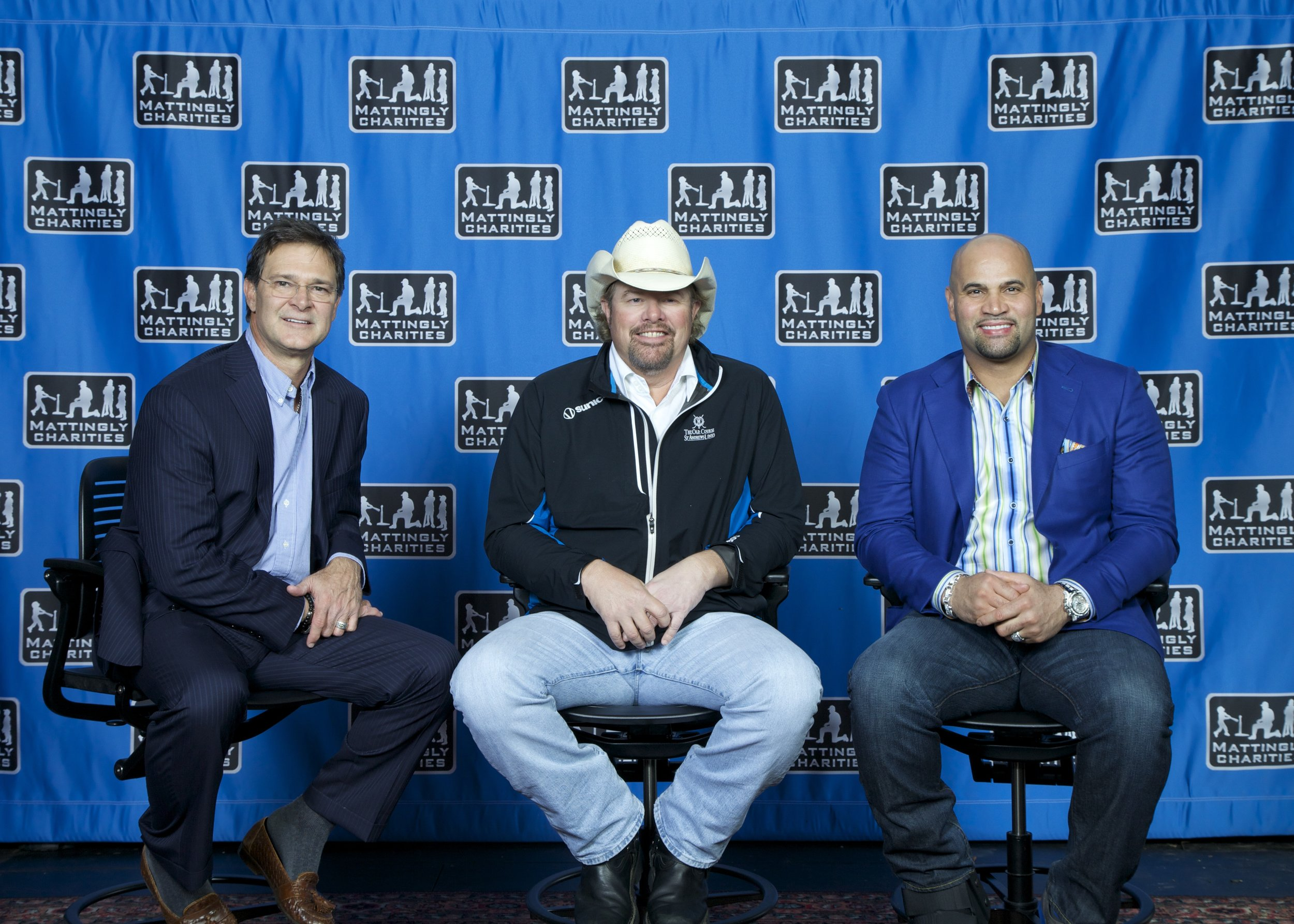 Don Mattingly, Toby Keith, and Albert Pujols