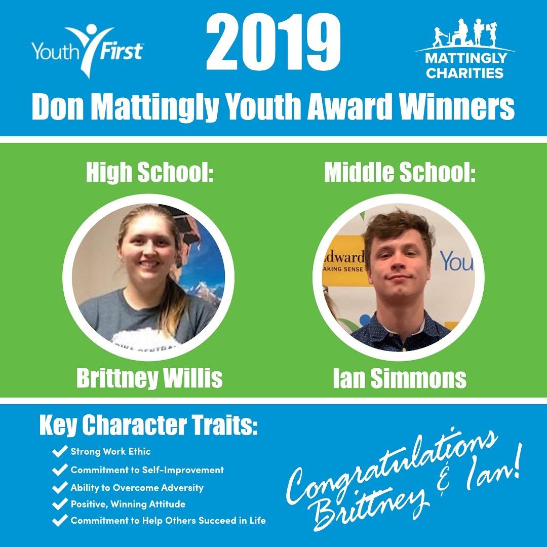 Don Mattingly Youth First Award Winners — Mattingly Charities