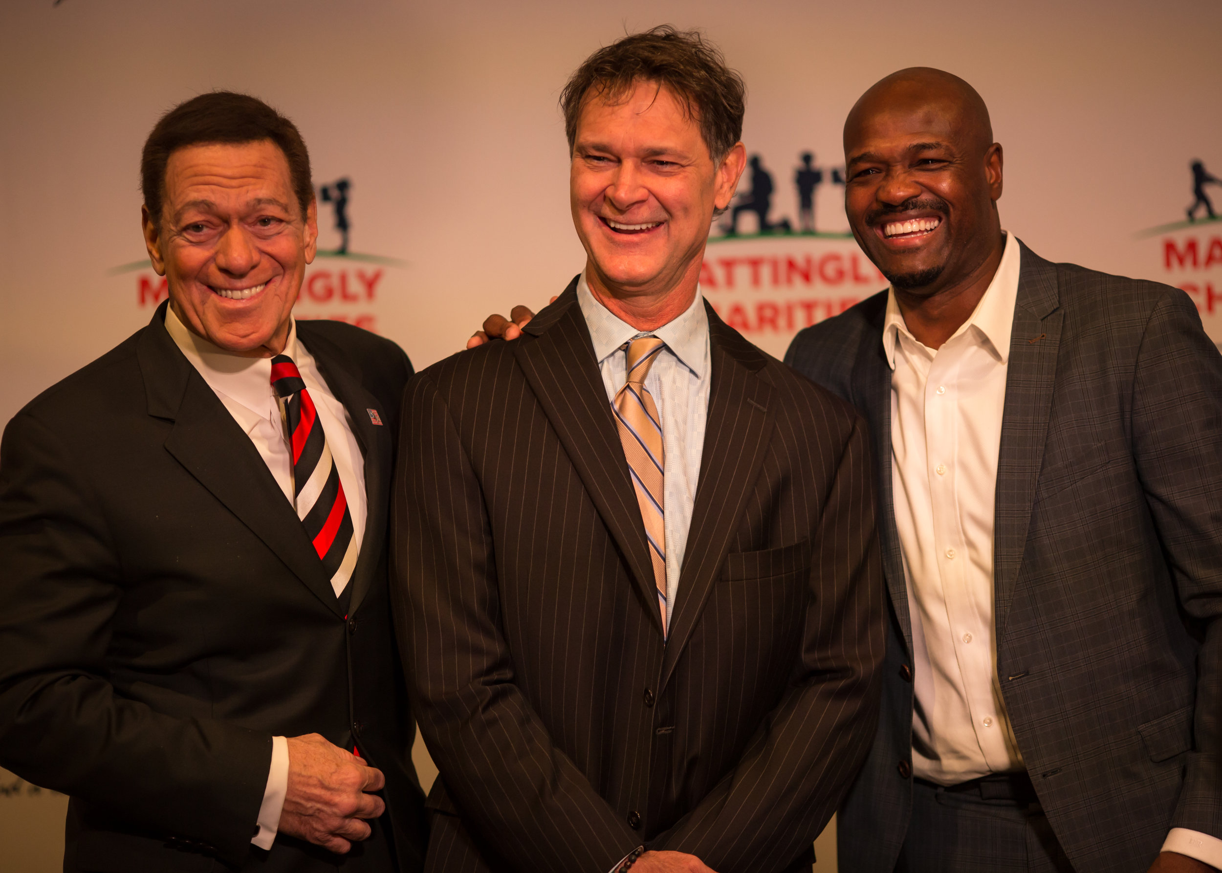 Joe Piscopo, Don Mattingly, and Harold Reynolds