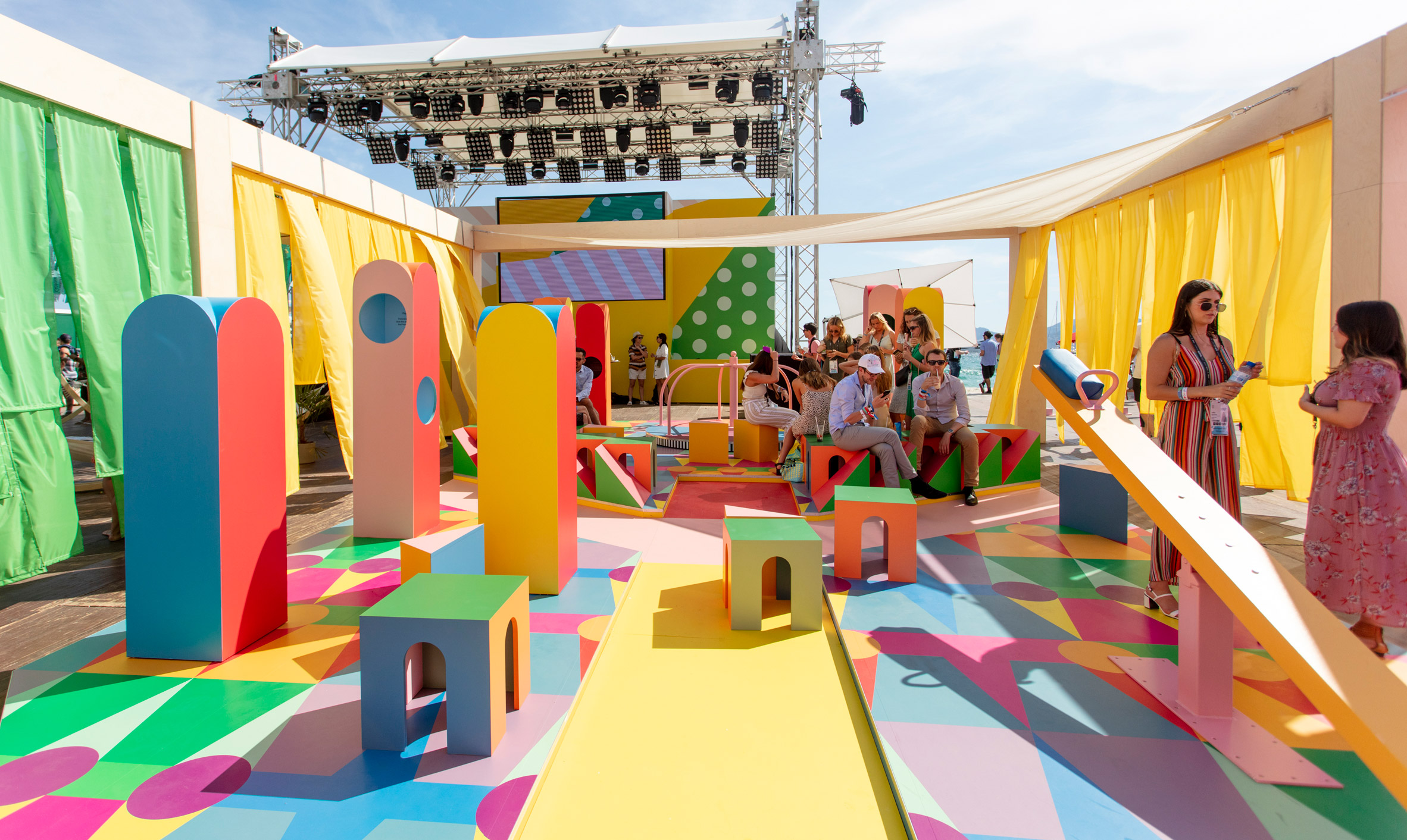 Pinterest's Playground at Cannes Lions by Yinka Ilori.