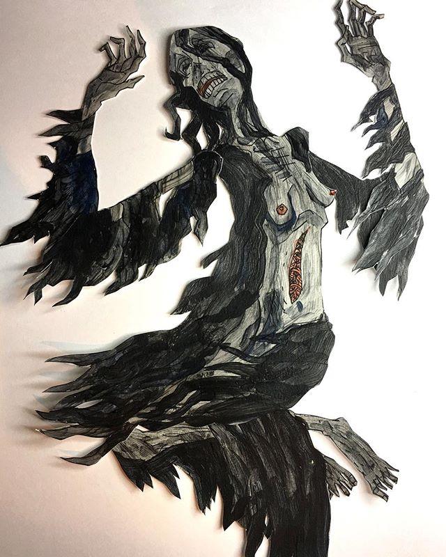 death - a paper puppet prototype