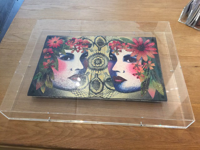 Perspex framed Book Cover Collage by Roo Abrook - Available from  Art Salon