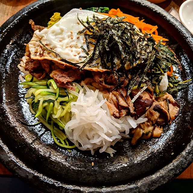 Exploring the worldwide cuisine is a privilege we often can't appreciate enough. This #bibimbap in #nyc #koreatown is so delicious it's difficult to stop eating. Do you have your favorite spot in #ktown? #yoursfreshly