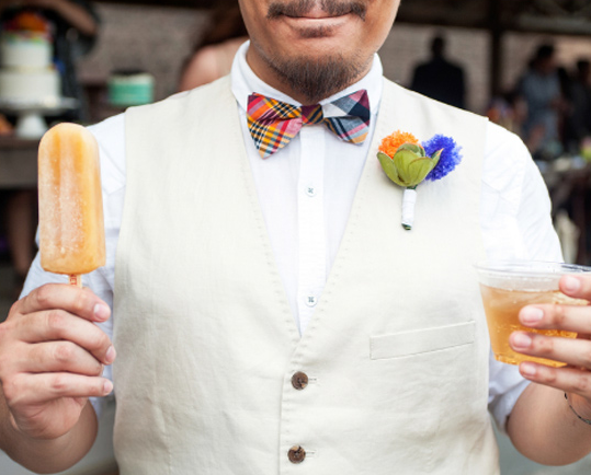 Make your wedding memorable… - with our boozy freeze pops