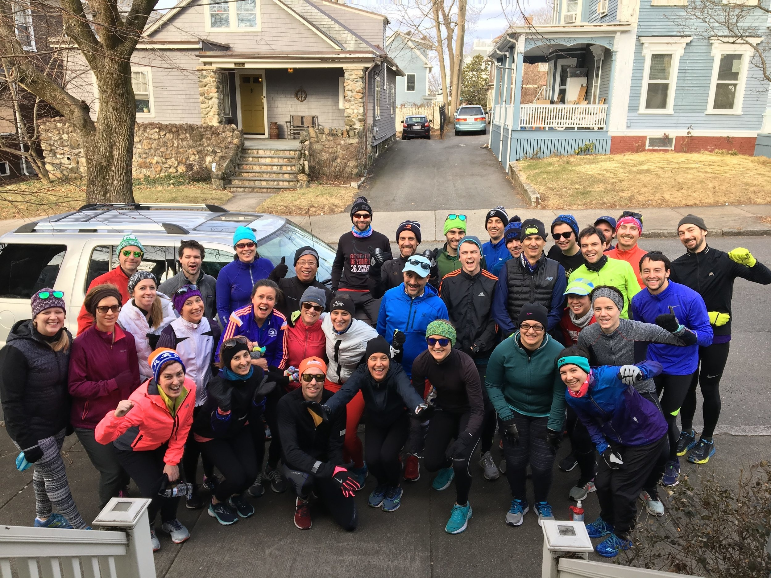 Thanks to Bradley Harris for hosting a huge crew for a January 2019 long run!