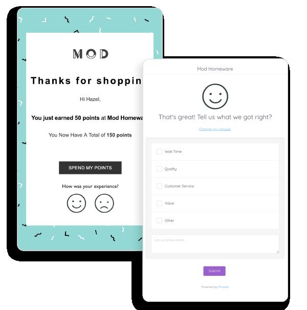 Marsello's customer feedback survey tool