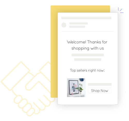 Shopify Mailchimp welcome email from Marsello