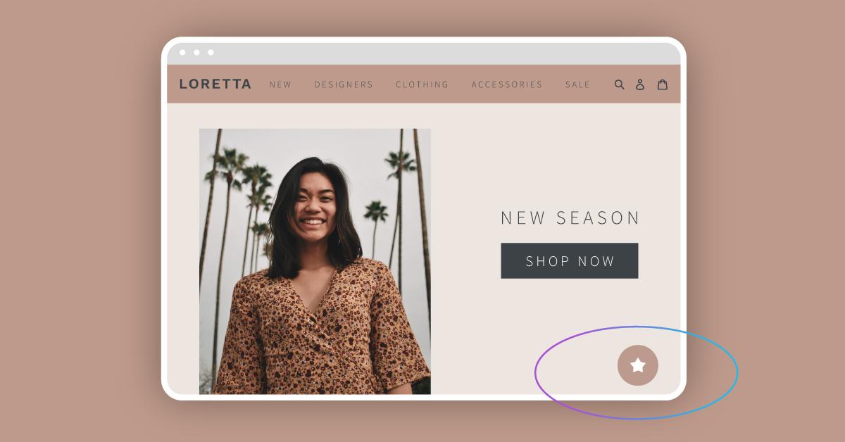 Marsello's 'Circle' loyalty tab at the bottom of Loretta's homepage.