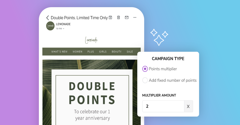 Marsello's Points Campaign feature is now live, giving you the power to market your loyalty program with bonus point promotions.