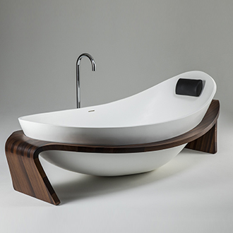 Over-sized for comfort, proportioned for beauty, the Nido™is a bold statement in any modern bathroom. -