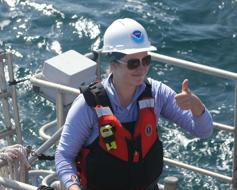 Ingman on research vessel (photo by Dru Devlin, ACCESS Cruise)