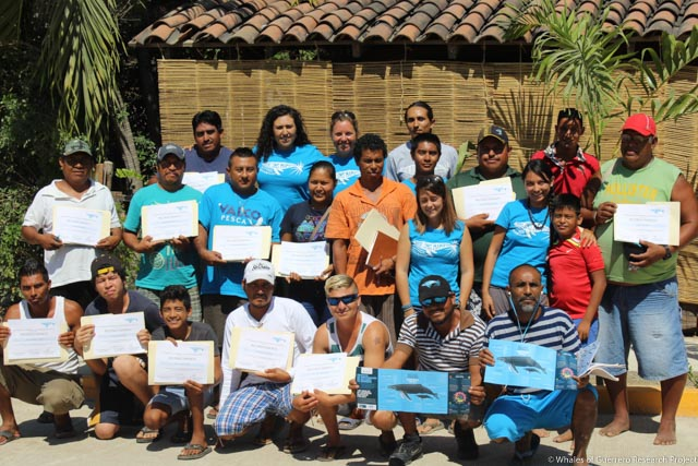 Adult participants in a course led by Whales of Guerrero Research Project