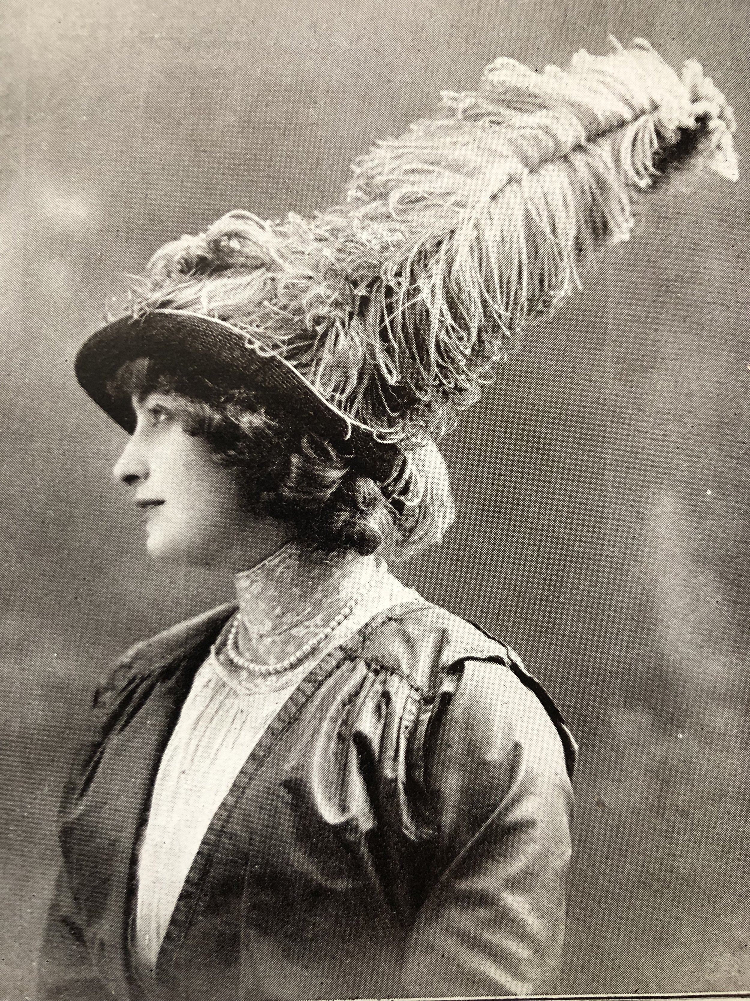 Fabulous feathered hat    Circa 1910