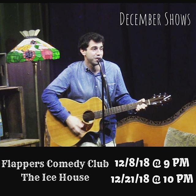 December Shows! Come watch me commemorate Hanukkah 😝 #comedy #standupcomedy #comedysong #thelonelyisland #boburnham