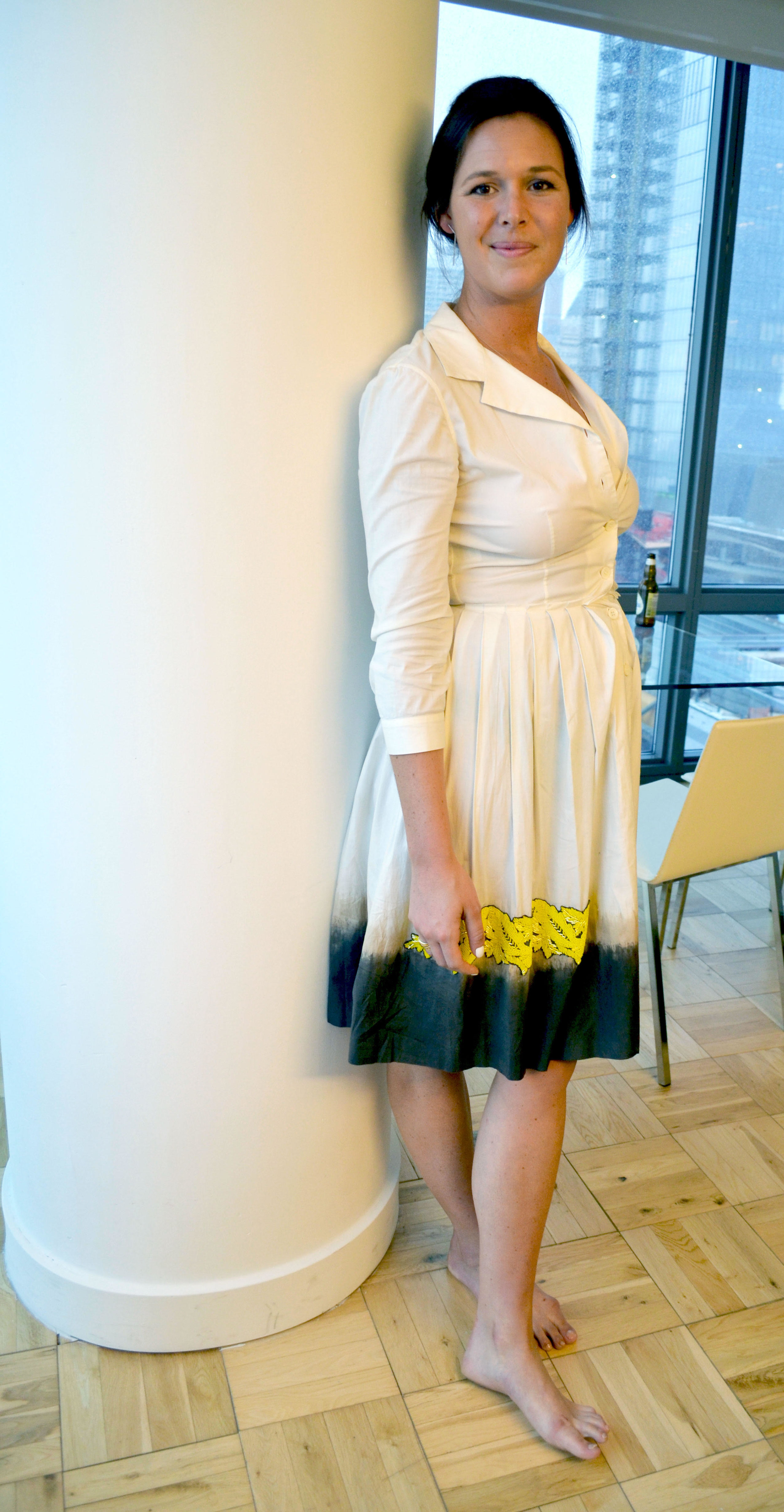 Sophia in our Prada Embellished Dress. Email us at info@shopverco.com for inquiries.