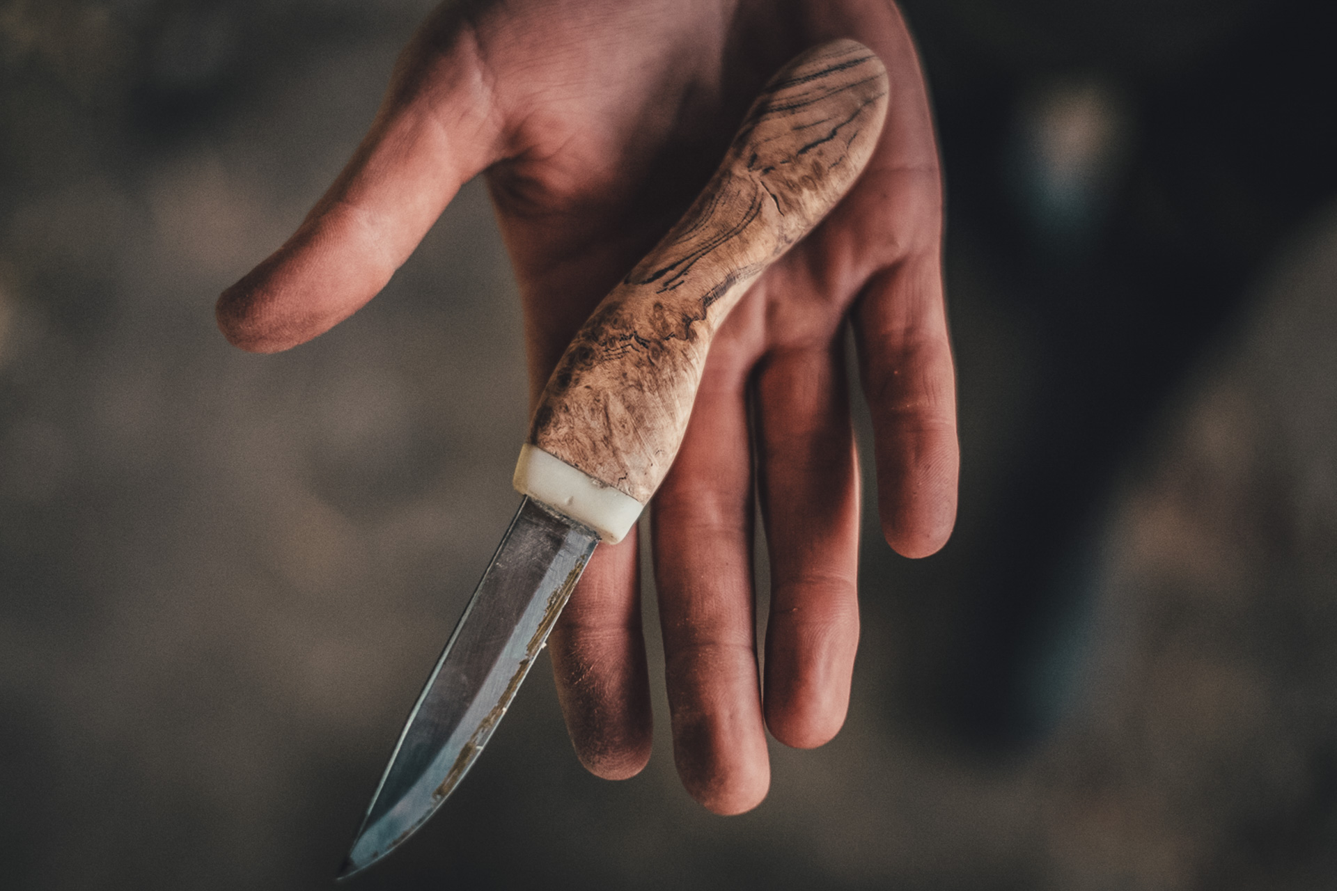 Hand made knife by one of the students