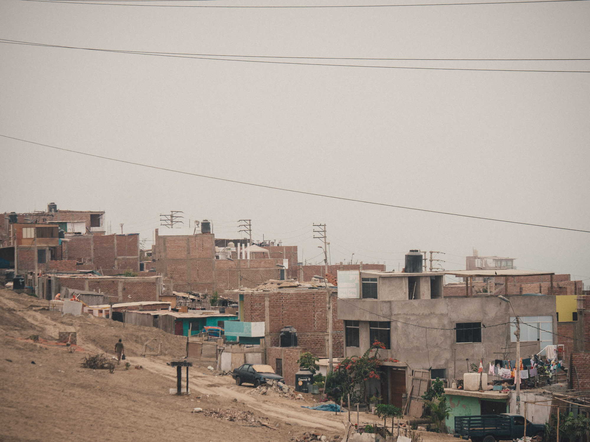 Many houses in Peru are unfinished to avoid paying property tax