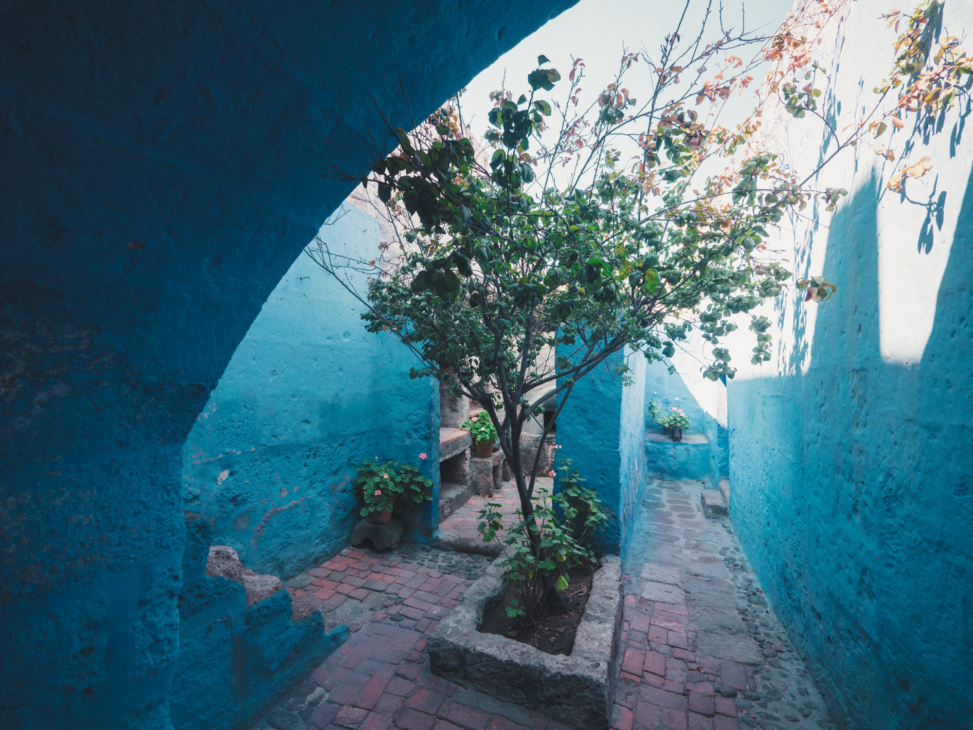 Coloured walls in Santa Catalina Monastery