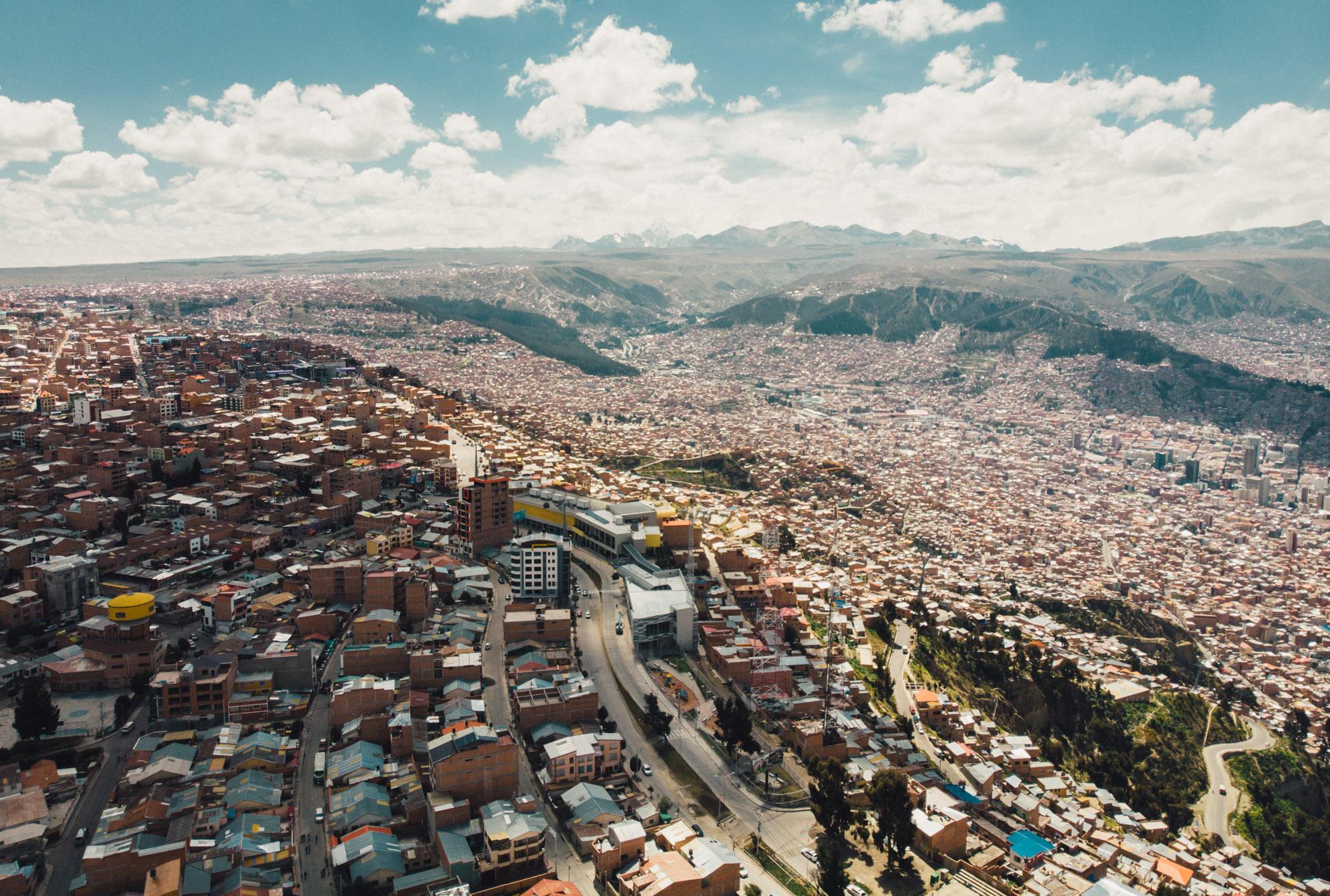 View on La Paz from El Alto