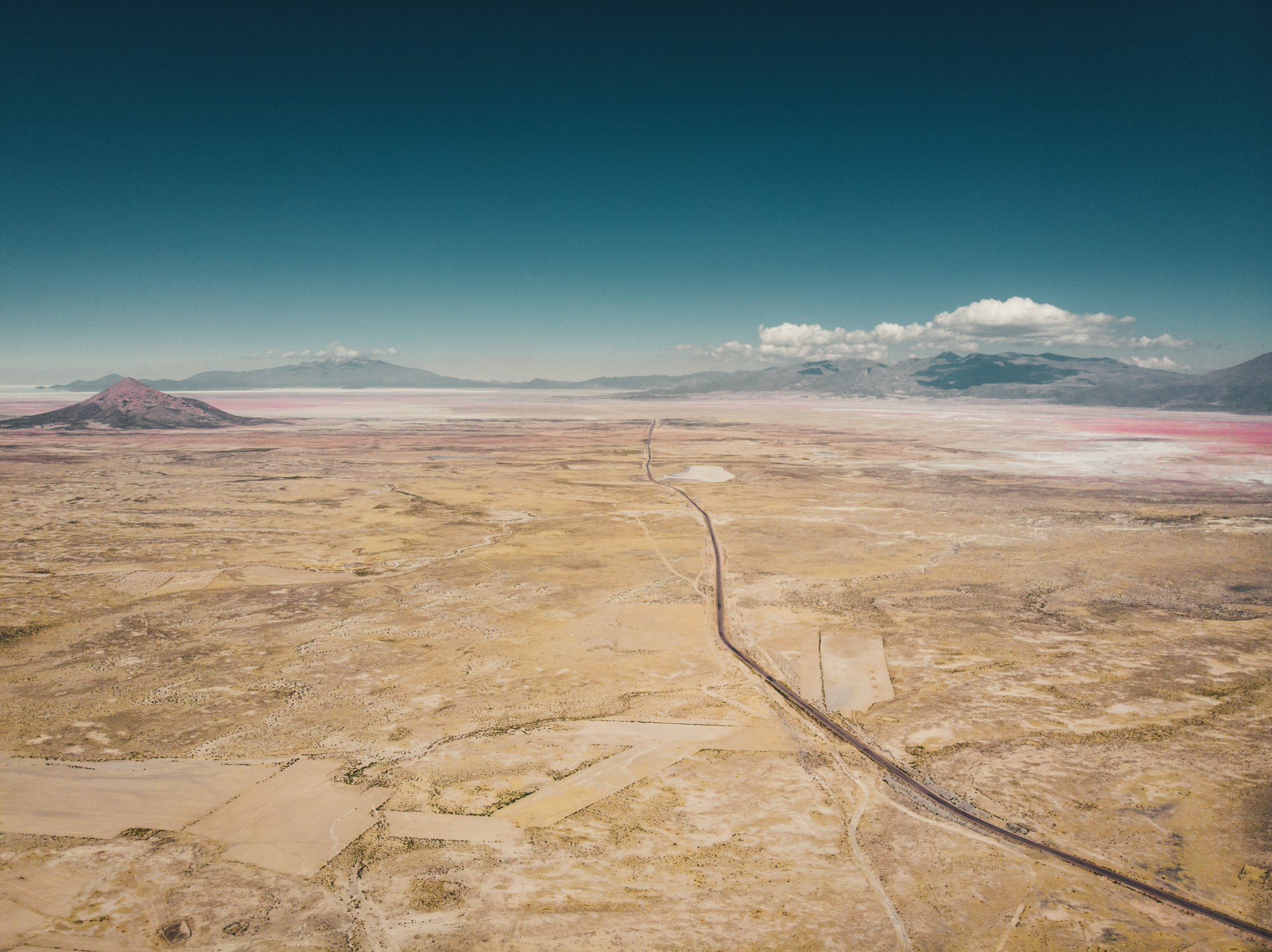 Salar de Uyuni in the far distance