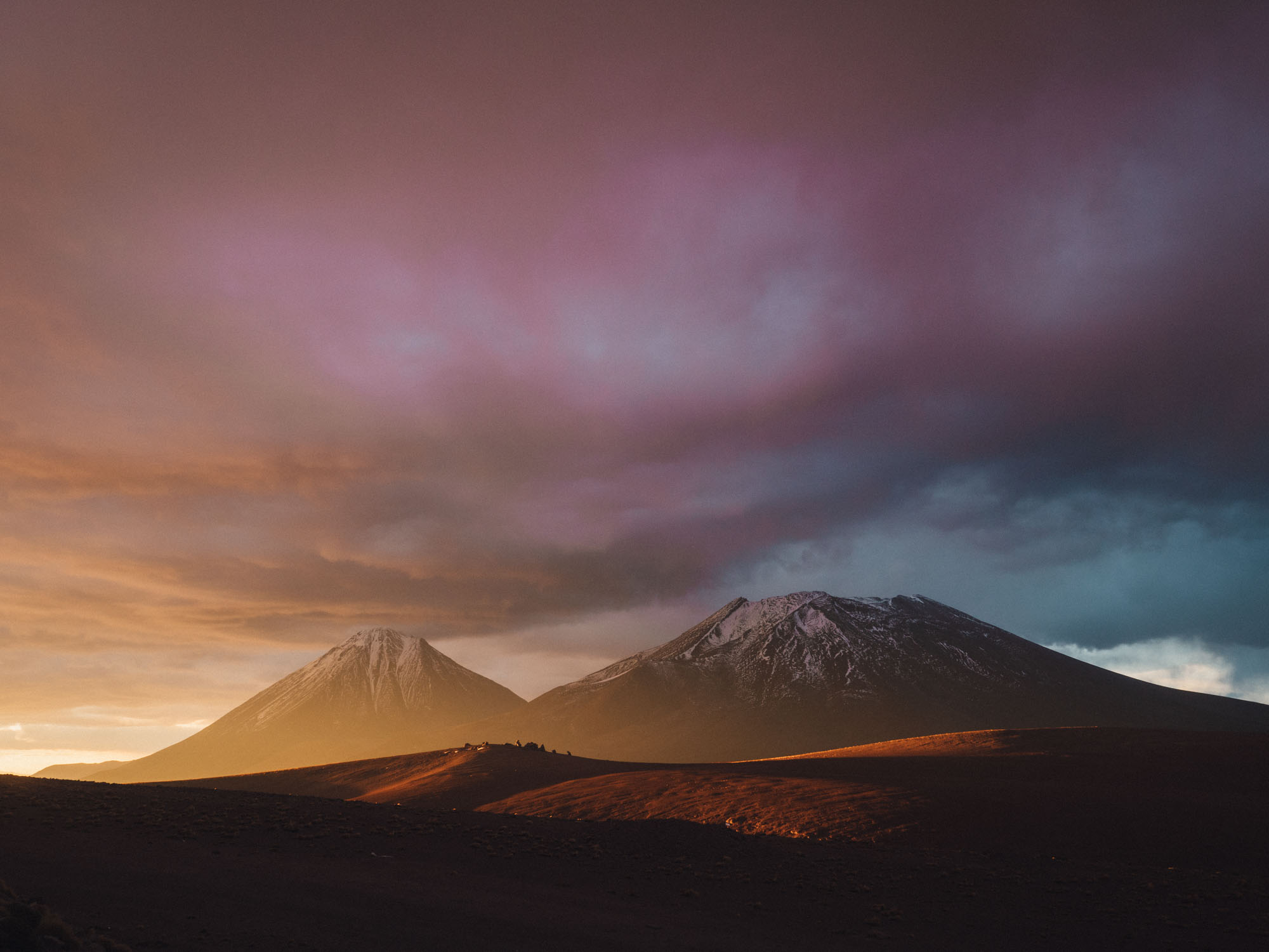Sunset on volcán Licancabur